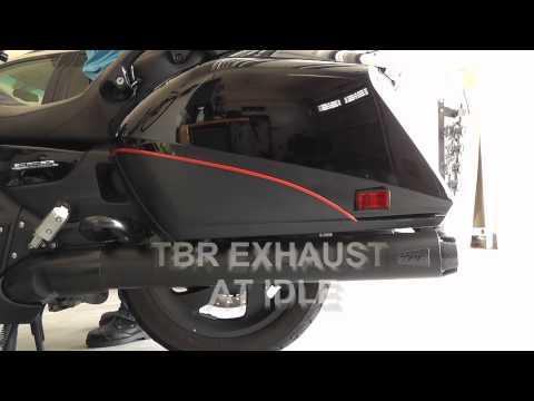 Two Brothers Racing (TBR) vs Stock Exhaust on Honda Goldwing  F6B (GL1800)