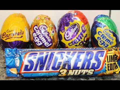 Australian vs American: Cadbury Crème & Caramel Egg and Australian Snickers 3 Nuts Review