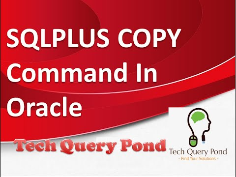 Oracle tutorial : SQLPLUS COPY Command In Oracle PL SQL