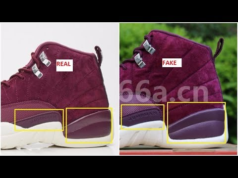 Fake Air Jordan 12 Bordeaux Spotted- Quick Ways To Identify Them