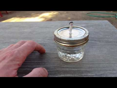 Easy low cost alcohol lamp