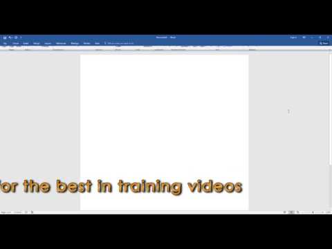 Microsoft Word 2016 - Collapsing and Expanding the Ribbon [ontrackTV Video Tutorial]