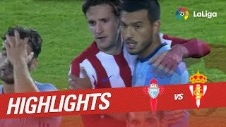 Resumen de Celta de Vigo vs Sporting de Gijón (2-1)