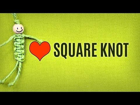 Basic Macramé Knots - Square Knot Tutorial   Macrame School