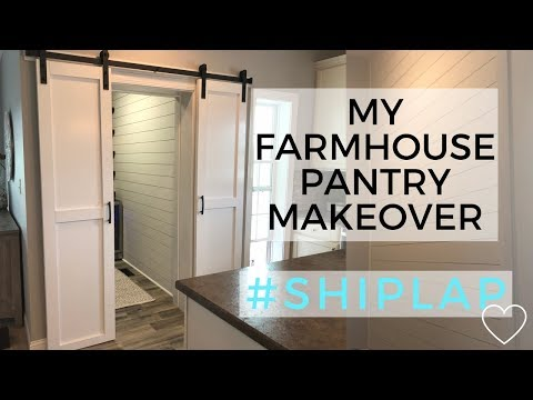 Farmhouse Style Pantry Makeover | Before and After Pantry Renovation | Shiplap | Fixer Upper Style