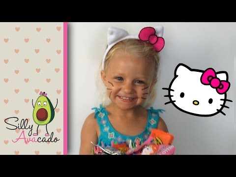 DIY Hello Kitty Cat Ears Halloween Tutorial! How to Make Cat Ears Headbands w/ Template