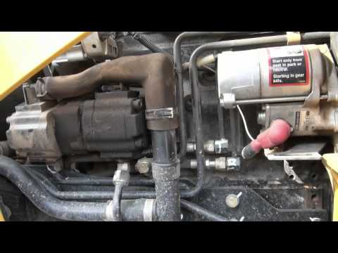 Deere 110 tlb backhoe engine and hydraulic oil change