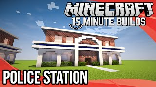 Minecraft: Police Station Tutorial - Part 3 (Xbox,Ps,PC,PE)