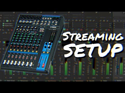 How to set up a mixer for live streaming | Yamaha MG12XU Virtual Walkthrough