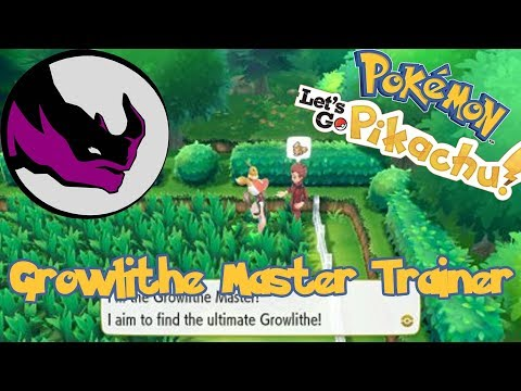 Growlithe Master Trainer - Pokemon Let's Go