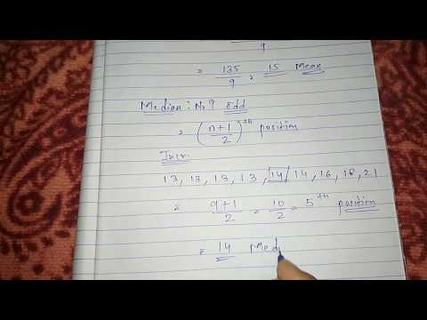 How to Find Mean Median Mode in Hindi | Mean median Mode in Statistics for Class 9th, 10th and CBSE
