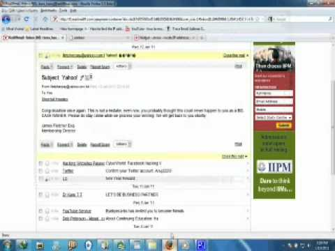how to trace email sender(rediffmail)by MrAnuj.mpg