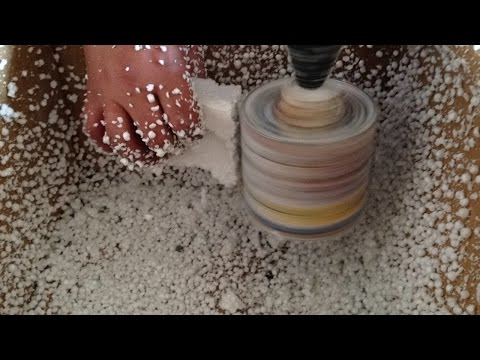 EPS CRUSHER STYROFOAM GRINDER to beads & balls DIY HomeMade