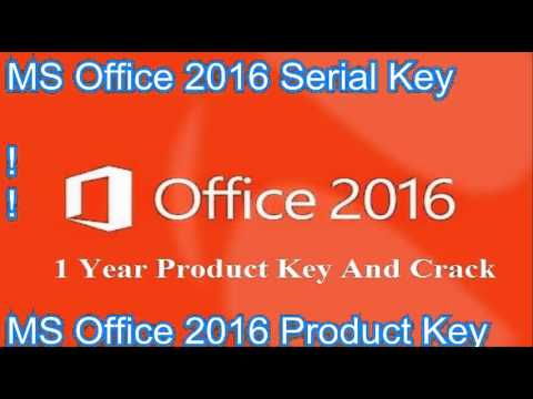 How To Get MS Office 2016 Product Key #crack#