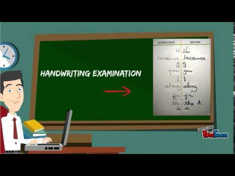 Handwriting Analysis, Forgery, Counterfeiting