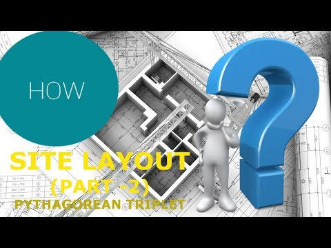CONSTRUCTION SITE LAYOUT | PYTHAGOREAN TRIPLET | PART-2 | HINDI
