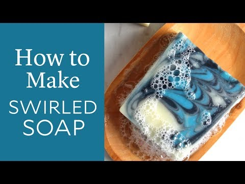 How to Make Swirled Cold Process Soap