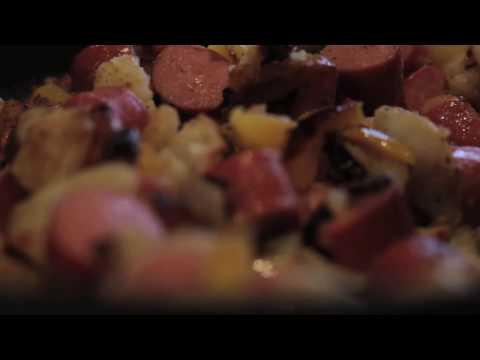 hotdogs and potatoes