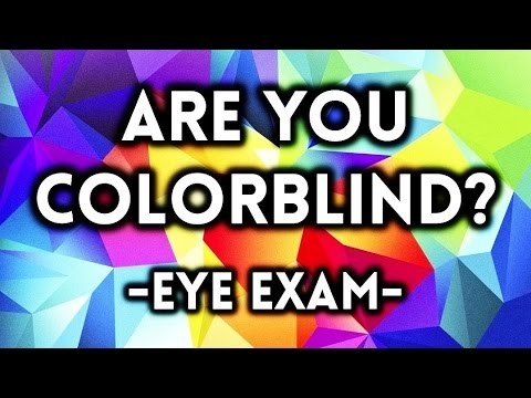 Are You Colorblind? - 3 Part Eye Exam