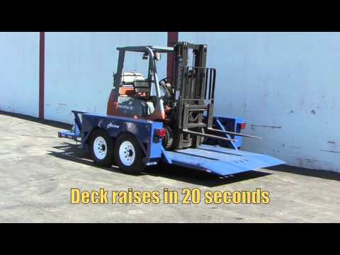 Loading a Forklift onto an Airtow Trailer