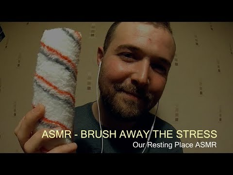 ASMR - BRUSH AWAY THE STRESS (SOFT SPOKEN, WHISPERS, BRUSH SOUNDS, HAND MOVEMENTS)