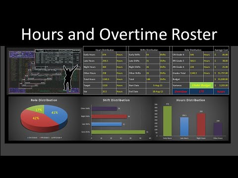 Excel Roster to Calculate Hours and Overtime