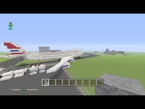 Minecraft 747 made by Lord dakr