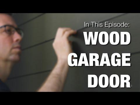Wood Garage Door - How to Clad your Metal Door with Wood