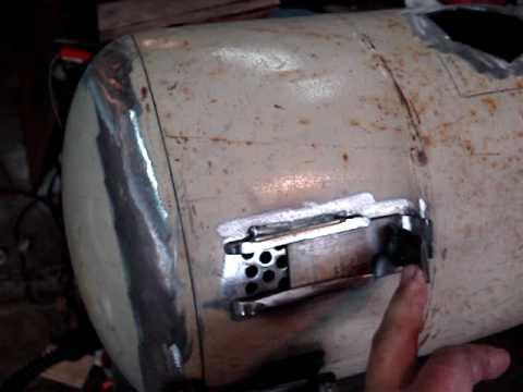 Recycled gas bottle log burning stoves