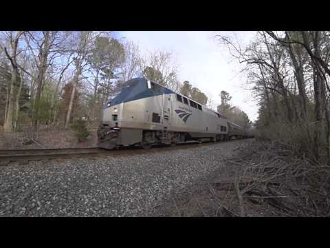 Amtrak #79 Carolinian Slow Locomotion - Durham to Burlington, NC