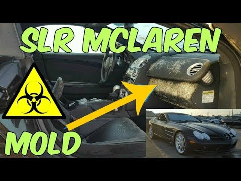 moldy biohazard 400k mercedes slr mclaren salvage due to hurricane harvey at auction. Black Bedroom Furniture Sets. Home Design Ideas