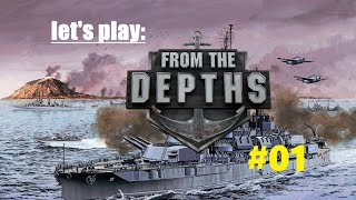 From the depths - Episode 1 - First ship!