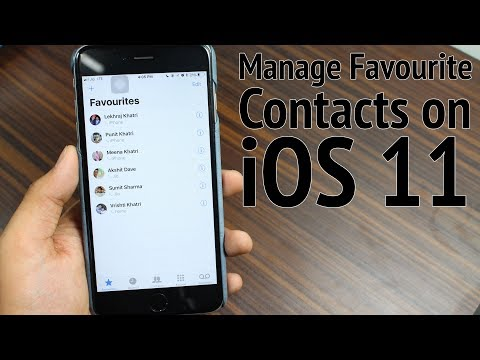How to Manage Favourite Contacts on iPhone