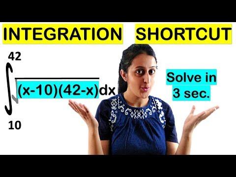 INTEGRATION SHORTCUT-SOLVE DEFINITE INTEGRALS IN 3 SECONDS//JEE/EAMCET/NDA/CET- TRICK