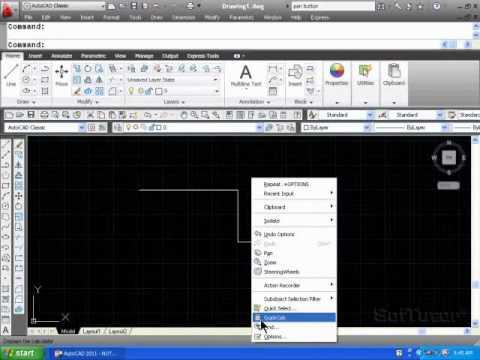 AutoCAD 2D - Mouse Button Functions & Configuration