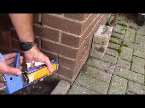 Mortar repair of brick in 1 hour - simple, easy tuckpointing caulk