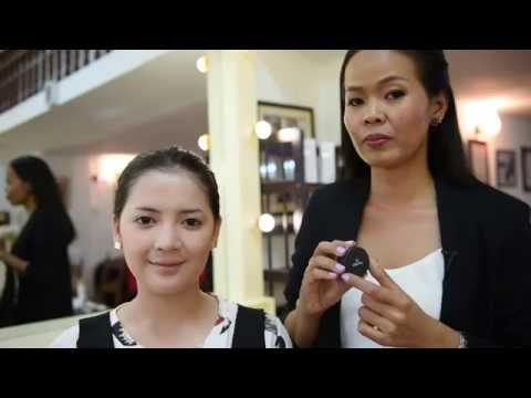 Syna Makeup School - Syna shows day makeup with elianto Cambodia products (Khmer)
