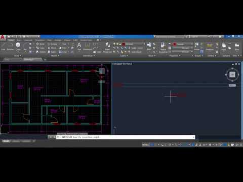 How to draw a floor plan in AutoCAD step by step (Part 6): Rotate, Object Snaps, & Scale