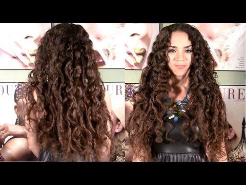 No Heat Curls - Curls Without Heat Hair Tutorial - No Braids or Curlers