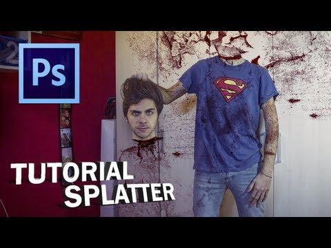 PHOTOSHOP - Tutorial Blood Splatter