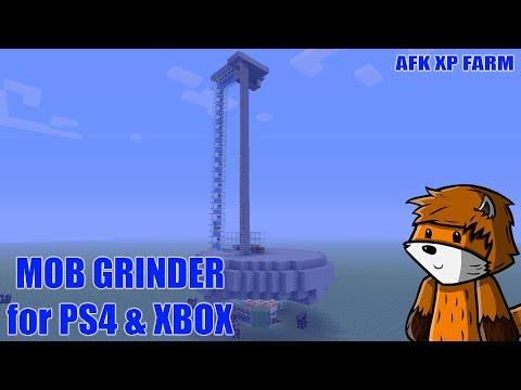 AUTOMATIC MOB GRINDER - AFK XP FARM - Minecraft - Tutorial ( PS4 / PE / XBOX / PS3 / WII U / PC )