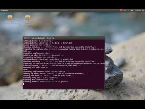 How to Install Broadcom STA Wireless Driver in Ubuntu 12.10 (Offline)