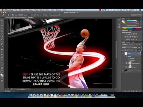 Photoshop CS6 Tutorial: Neon Stripes