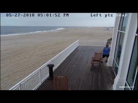 Lightning Strike Off Cape May Beach Caught On Video