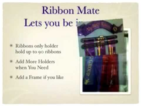 Ribbon Mate a great way of displaying your sashes