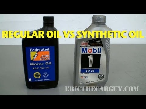 Regular Oil vs Synthetic Oil -EricTheCarGuy