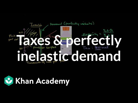 Taxes and perfectly inelastic demand   Microeconomics   Khan Academy