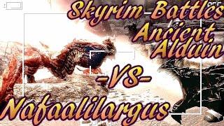 Skyrim Battles - Nafaalilargus vs Ancient Alduin! :) [Legendary Settings]! :)