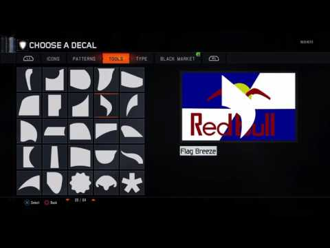Red Bull - Black Ops 3 (Emblem)(Logo) Tutorial