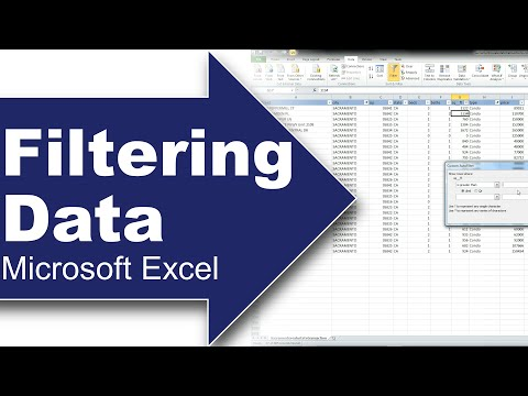 Filter important data using Excel